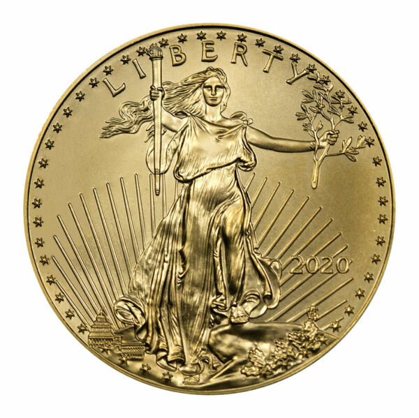 2020 110 oz Gold American Eagle $5 GEM BU SKU59540