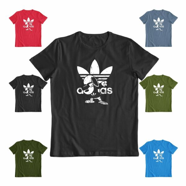 Funny distressed Snoopy Adidas screen printed T-Shirt S-3XL