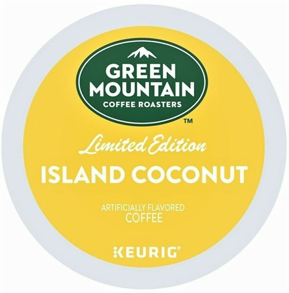 Green Mountain ISLAND COCONUT K CUPS Keurig Coffee 12 to 96 PICK FLAVOR amp; SIZE