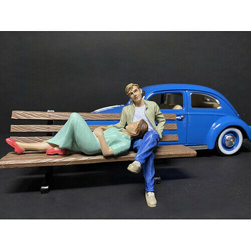 SITTING LOVERS 2 PC FIGURINE SET FOR 118 MODELS BY AMERICAN DIORAMA 38230-38231