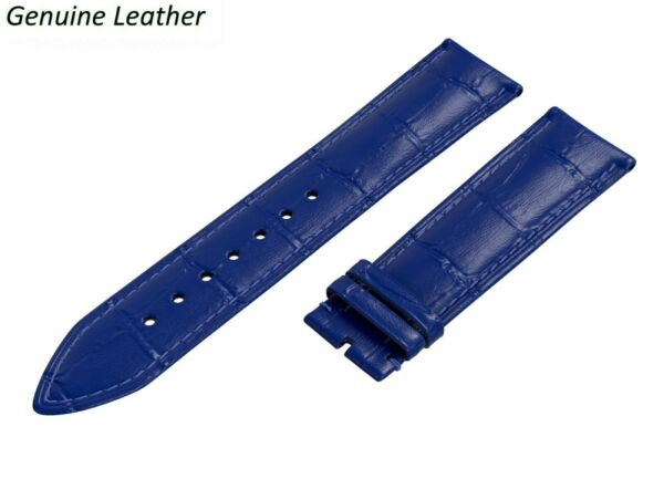Genuine Leather BLUE Strap For BURBERRY Watch Band Buckle Clasp 12 24mm Mens GBP 6.45