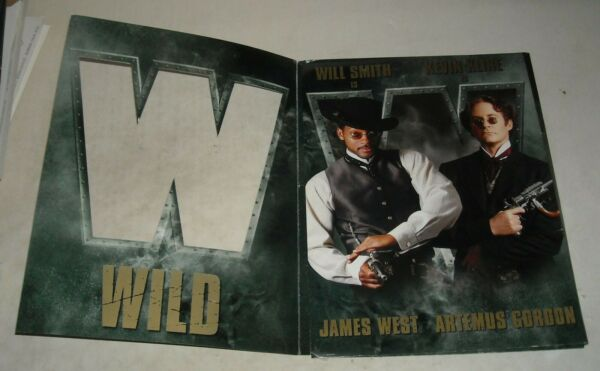 1989 WARNER WILD WILD WEST MOVIE PRESS KIT WILL SMITH KEVIN KLINE SALMA HAYEK