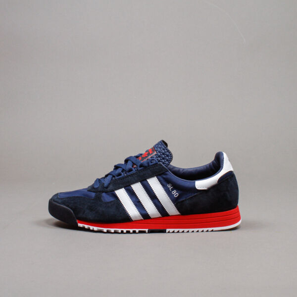 Adidas Originals SL 80 Navy White Red Men Lifestyle classic shoes running FV4415