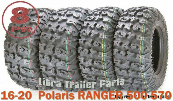 FREE COUNTRY 8PR ATV Tire Set 25x8-12 25x10-12 for 16-20  Polaris RANGER 500 570
