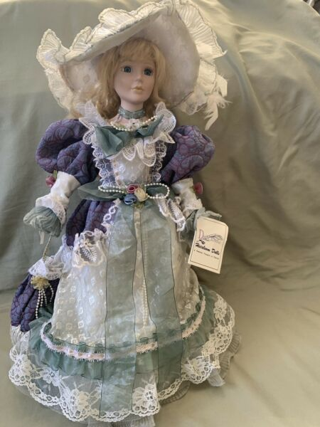 "Beautiful Vintage Porcelain Doll 18"" Tall From Duck House Heirloom Dolls"