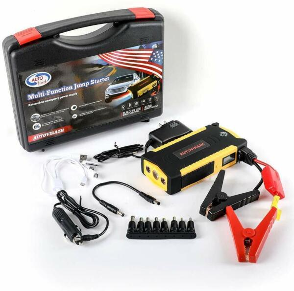 Portable Car Battery Jump Starter up to 6.5L Gas 5.2L Diesel Engine $64.99