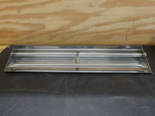 Stanbroil Stainless Steel Dual Fireplace Burner Pan 26.5 Inches
