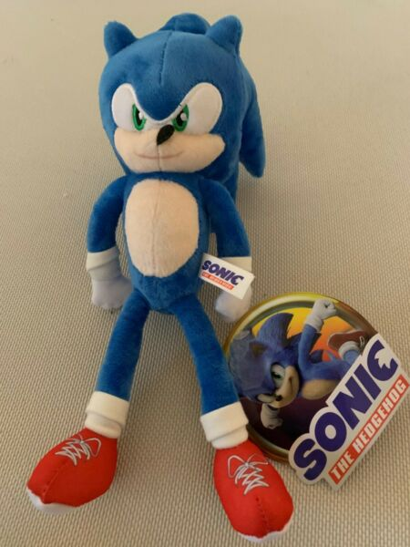 NEW Sonic the Hedgehog Movie 2020 Plush 10 - 12 inch Toy Factory w Tag.