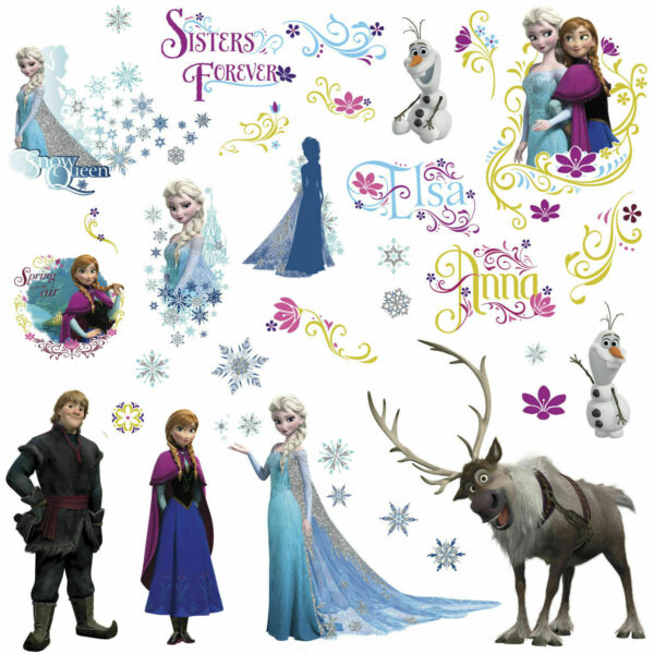 DISNEY FROZEN Movie Wall Decals OLAF ELSA ANNA New 36 Bedroom Sticker Room  7062