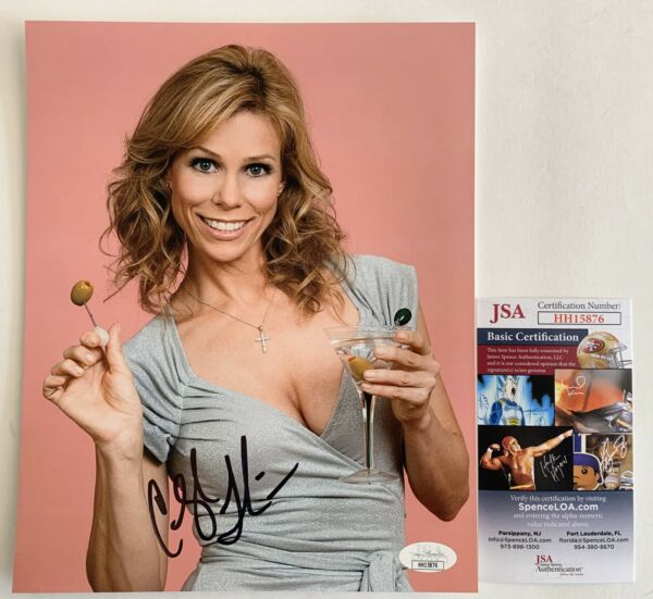 Sexy Cheryl Hines Curb Your Enthusiasm Autographed 8x10 Photo Signed JSA COA