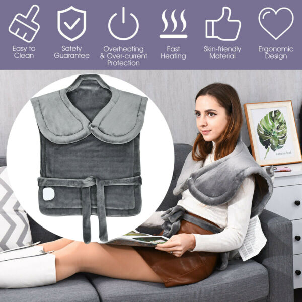 HODIAX Electric Neck Shoulder Heating Pad With 6 Temperature Setting Pain Relief