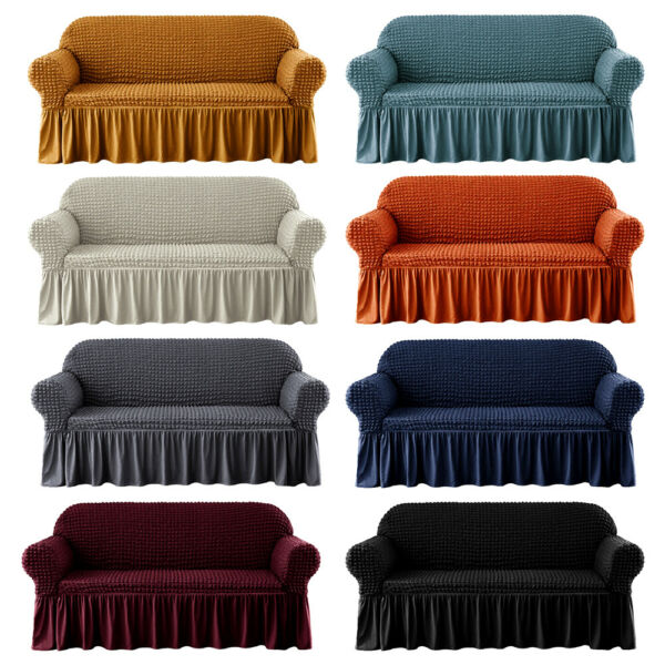 1 2 3 4 Seater 3D Bubble Lattice Sofa Covers Spandex Slipcover Protector $28.99