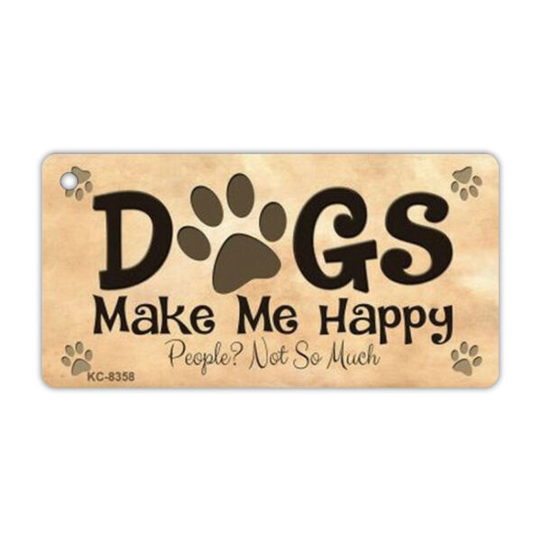 Keychain Metal Dogs Make Me Happy People Not So Much 3quot; x 1.5quot; Key Chain $6.99