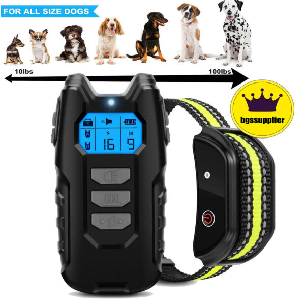 Dog Training Collar Pet Electric Shock Collar Waterproof with Remote For Dogs $27.99