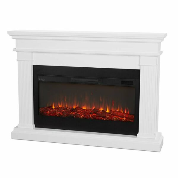 Real Flame Beau Electric Fireplace in White