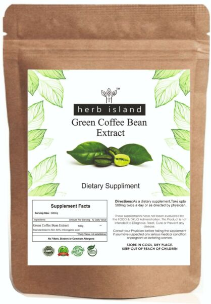 Organic Green Coffee beans Powder 100Gm 3.50oz For Weight Loss