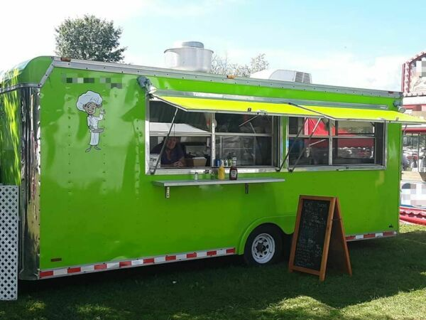 Used 18' Kitchen Food Trailer with Pro Fire Suppression System for Sale in Ohio!