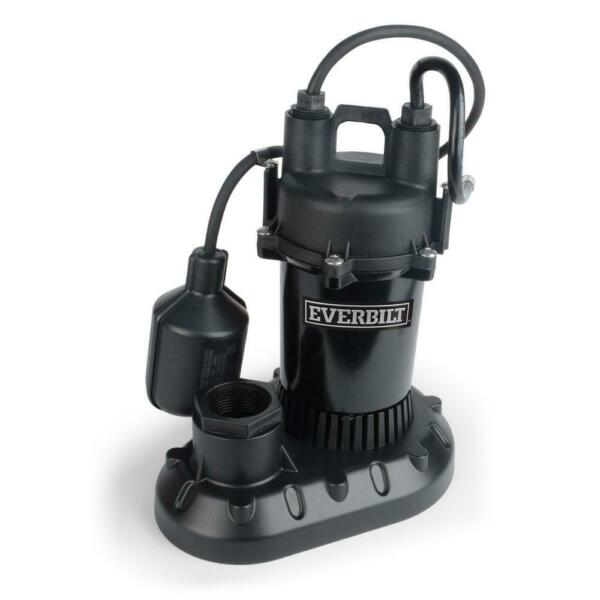 Everbilt 13 HP Submersible Aluminum Sump Pump with Tethered Switch