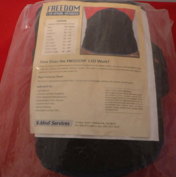 Freedom LSO Spinal Orthosis Brace Large 33
