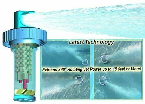 Pack Of 2 Circulator 10022a Automatic 360 Rotating Swimming Pool Cleaner Jet wit $78.99