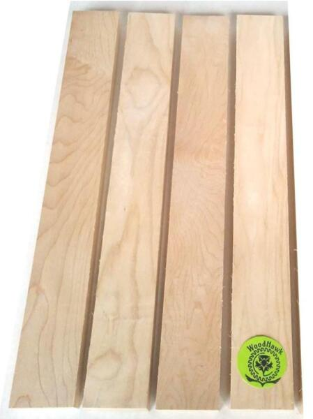 4 Pack 3 4quot; x 2quot; x 24quot; HARD MAPLE Wood Cutting Lumber Boards Kiln Dry $21.00