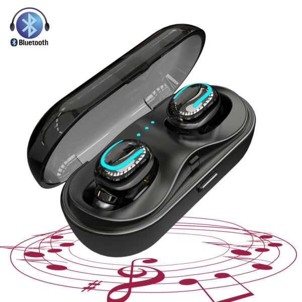 Portable Bluetooth Headset True Twins Stereo Cordledd Earbud for iPhone Samsung