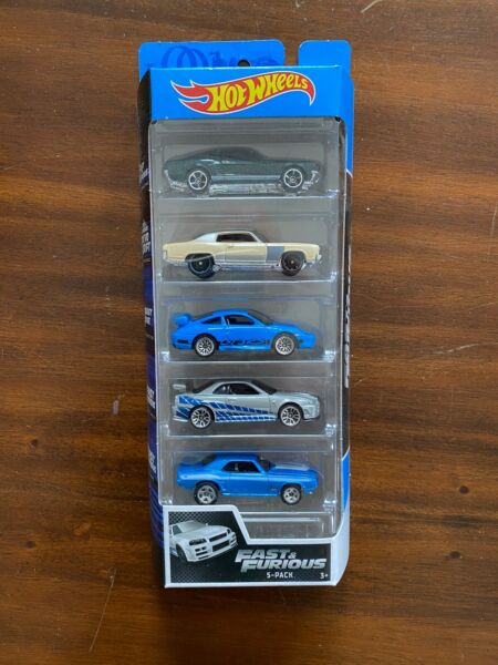 2020 Hot Wheels Fast Furious 5 Pack MustangMonte CarloPorscheSkylineCamaro!