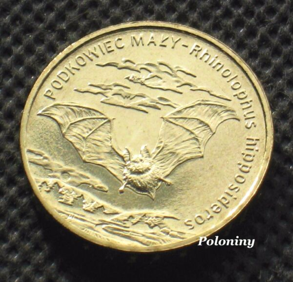 COMMEMORATIVE COIN OF POLAND ANIMALS OF THE WORLD BAT NIETOPERZ MINT
