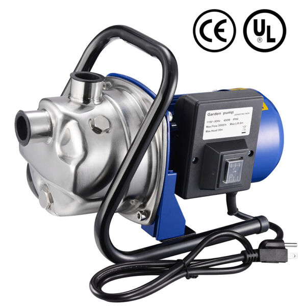 600W Electric Water Booster Pump Stainless Steel Garden Sprinkler Pump Pond Pool $83.90