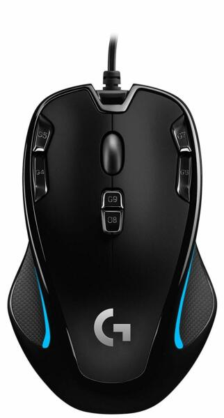 Logitech G300s Optical Ambidextrous Gaming Mouse 9 Buttons Black