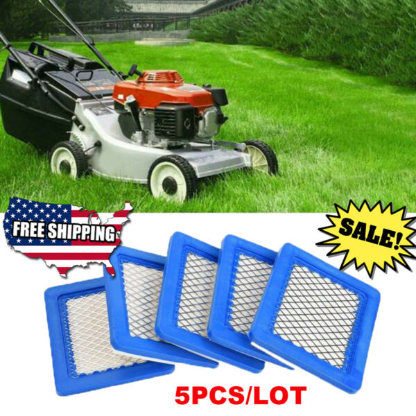 5Pcs Air Filter Lawn Mower Filters for Briggs amp; Stratton 491588 491588S 399959