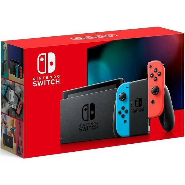 2020 Nintendo Switch with Neon Blue and Neon Red Joy‑Con 32GB Newest Model