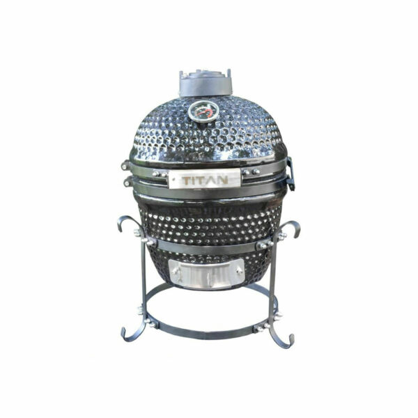 Titan Great Outdoors Kamado Grill 10quot; Ceramic Tabletop Thermometer Compact