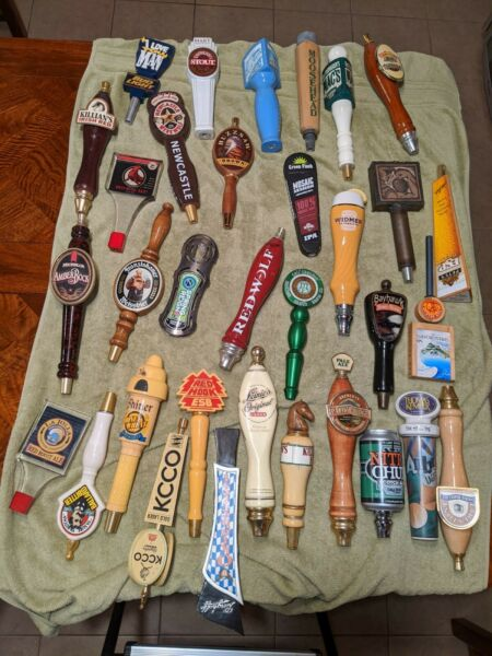 33 Collectible Authentic Beer Tap Handles and Knobs