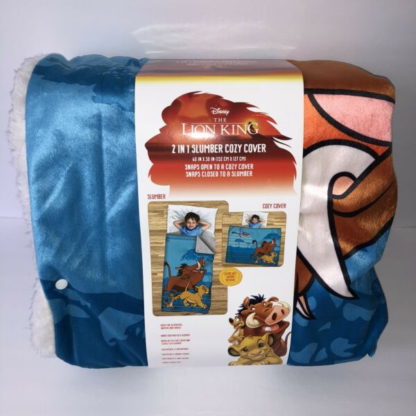NEW Disney The Lion King 2-in-1 Slumber Cozy Cover Sherpa Lining Sleeping Bag