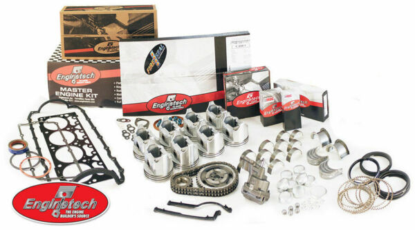 Small Block Fits Chevy 350 5.7 1967 1985 Engine Rebuild Kit Flat Top Pistons