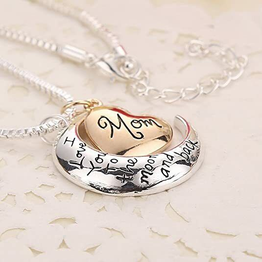 Mothers Gift Necklace amp; Pendant I Love You To The Moon amp; Back Best Gift for mom $7.50
