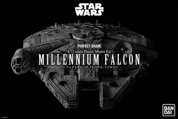 Star Wars Perfect Grade Pg Model Kit 172 Millennium Falcon Bandai in Brown Box