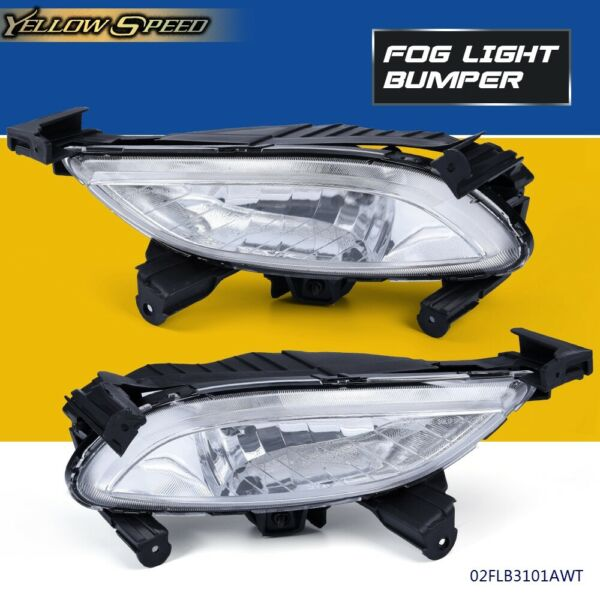 Pair Front Bumper Clear Driving Fog Light Lamp Fit For Sonata 2011 2012 2013 $29.90