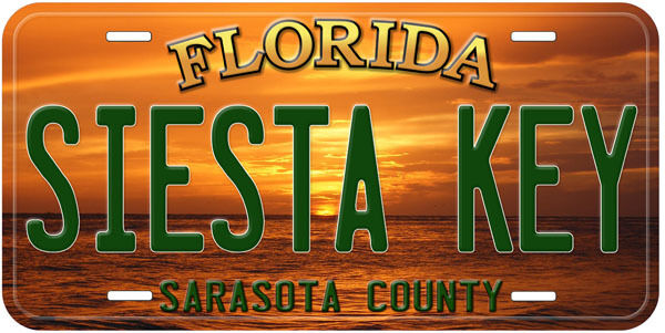 Siesta Key Florida Aluminum Auto Novelty Car License Plate P01 $17.90
