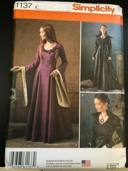 Simplicity COSTUME Pattern 1137 Ms Medieval~Game of Thrones~Fantasy Gown~Dress