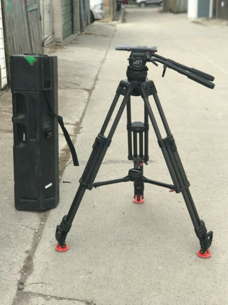 Sachtler Video 20 SB with ENG Carbon Tripod 3 plates 2 x Pan arms mid spreader