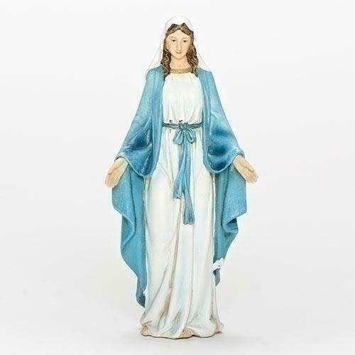 6 inch Our Lady of Grace Statue Figure Blessed Mother Mary Resin Beautiful 60686