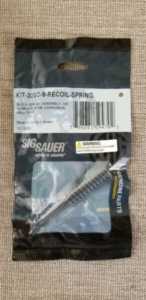 P320 Compact Carry Recoil Guide Rod Spring Assembly 9mm for 3.9quot; barrel