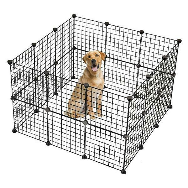 32 Panels Tall Dog Rabbit Playpen Large Crate Fence Pet Play Pen Exercise Cage
