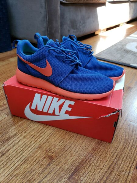 Nike Roshe Run Size 9.5 Blue Orange can pass for ds