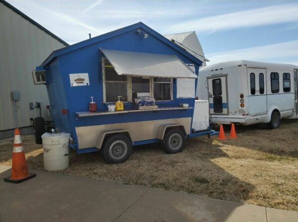 8.25' x 11.2' Shaved IceSnowball Concession Trailer with Ford E350 Bus for Sale