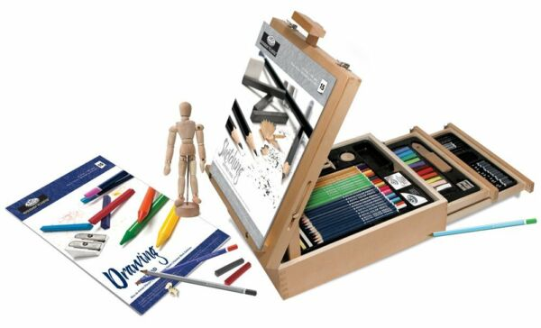 Sketching Drawing Easel Student Artist Pencil Learning Training Charcoal Set Kit