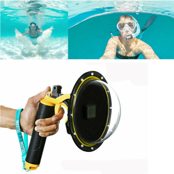 30M Underwater Diving Dome Port Housing Lens Cover Protective For GoPro Hero 8