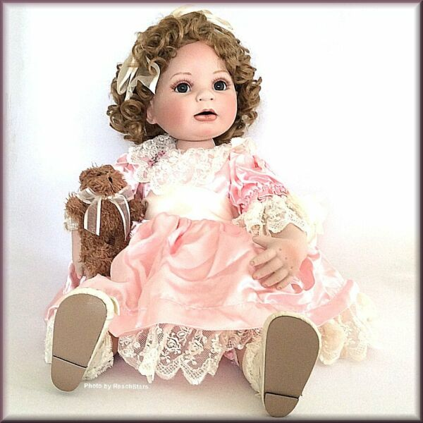 Marie Osmond Dolls Friends Toddler Doll with Teddy Porcelain 12 Inch Free Ship